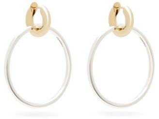 Spinelli Kilcollin Casseus 18kt Gold & Sterling-silver Hoop Earrings - Silver Gold