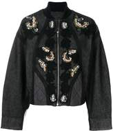 Antonio Marras sequin and floral embroidered jacket