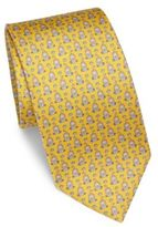 Salvatore Ferragamo Lion Patterned Silk Tie