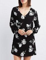 Charlotte Russe Floral Open Back Shift Dress