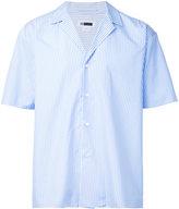 H Beauty&Youth striped short sleeve shirt - men - Cotton - M