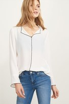 Dynamite Bell Sleeve Blouse with contrast details
