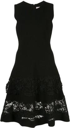 Carolina Herrera Lace-Panel Midi Dress