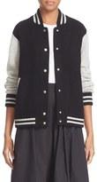 Marc Jacobs Women's Stripe Detail Wool & Cashmere Knit Varsity Jacket