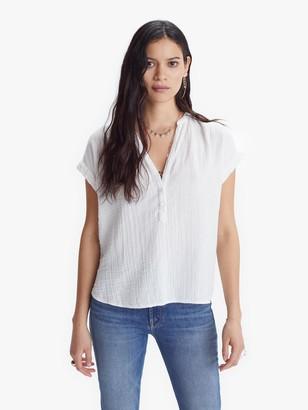XiRENA Sam Chelsea Gauze Top - White