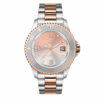 Ice Watch Ice-Watch - ICE steel Silver sunset rose-gold - Women's wristwatch with metal strap - 016769 (Medium)