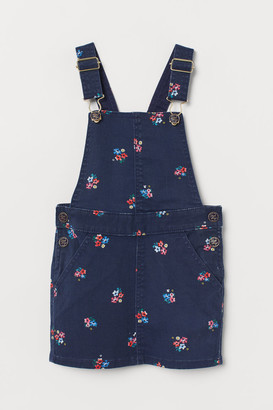 H&M Patterned dungaree dress
