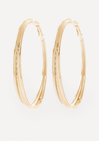 Bebe 3-Row Hoop Earrings