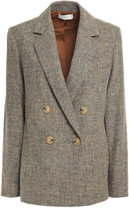 Vince Double-breasted Marled Boucle Blazer