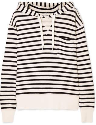 Alex Mill Striped Cotton-jersey Hoodie