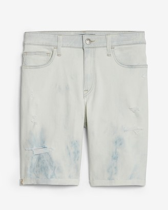 Express Bleached Light Wash Hyper Stretch Jean Shorts