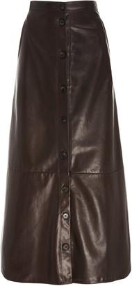 Adam Lippes A-Line Midi Leather Skirt