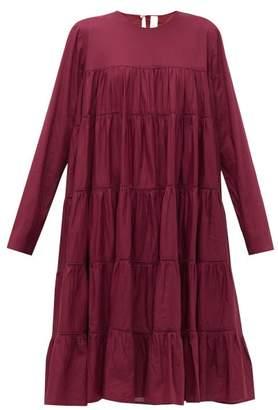 Merlette New York Essouaria Cotton Smock Midi Dress - Womens - Burgundy