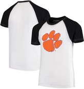 Unbranded Clemson Tigers Wes & Willy Youth Swim Rash Guard T-Shirt - White