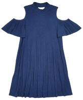 Aqua Girls' Ribbed Knit Cold Shoulder Dress - Sizes S-XL - 100% Exclusive