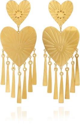 Mercedes Salazar Gold Heart Earrings