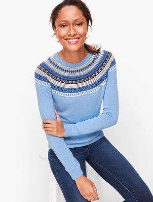 Talbots Fair Isle Yoke Sweater