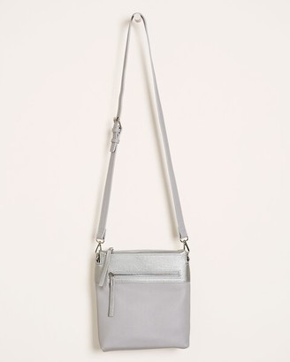 Chico's Classic Faux-Leather Colorblock Crossbody Bag