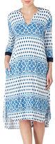 Ellen Tracy Printed Long Tunic Nightgown