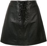 Derek Lam 10 Crosby laced mini skirt - women - Lamb Skin/Polyester - 0