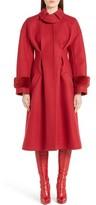 Fendi Women's Wool & Cashmere Coat With Genuine Mink Cuffs