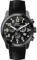 Rotary Gs90201-19 Men's Les Originales Chrono Black Genuine Leather & Dial Watch