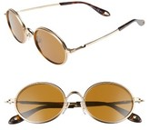 Givenchy Men's 52Mm Retro Sunglasses - Gold