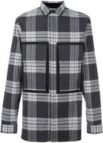 Helmut Lang patch pocket plaid shirt