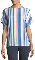 St. John Blurred Multi-Stripe T-Shirt