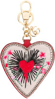 Gucci heart keyring - women - Cotton/Leather - One Size