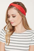 Forever 21 Twist-Front Faux Suede Headwrap
