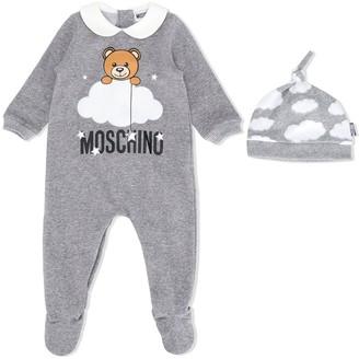 MOSCHINO BAMBINO Teddy cotton babygrow set