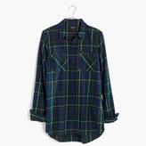Madewell Flannel Ex-Boyfriend Shirt in Ontario Plaid