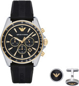 Emporio Armani AR80003 stainless steel and gold watch gift set