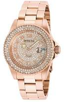 Invicta Women's 'Angel' Quartz Stainless Steel Casual Watch, Color:Rose Gold-Toned (Model: 90256)