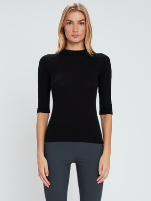 Vince Elbow Sleeve Mock Neck Pullover
