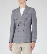 Reiss Reiss Windsor - Double-breasted Blazer In Blue, Mens