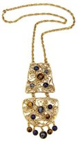Ben-Amun Gypset Metal Lace Pendant Necklace
