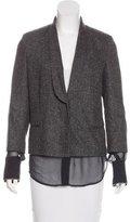 Brunello Cucinelli Monili-Trimmed Tweed Blazer