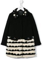 Miss Blumarine floral embellished coat