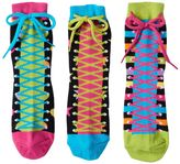 LittleMissMatched Girls 4-9 Little Miss Matched 3-pk. Zany Sneaker Anklet Socks