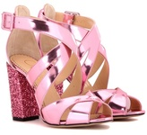 Charlotte Olympia Apollo 100 Embellished Leather Sandals