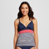 Merona Women's Color Blocked Over the Shoulder Tankini Top