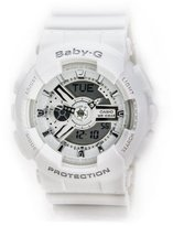 Casio Women's BA-110-7A3CR Baby-G Analog Display Quartz White Watch