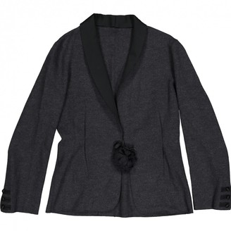 Lanvin Anthracite Wool Jackets