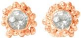 Kaia Diamond Stud Earrings On Solid Rose Gold