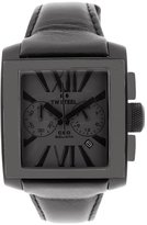 TW Men's Steel Leather Synthetic with Dial Watch Black CE3013