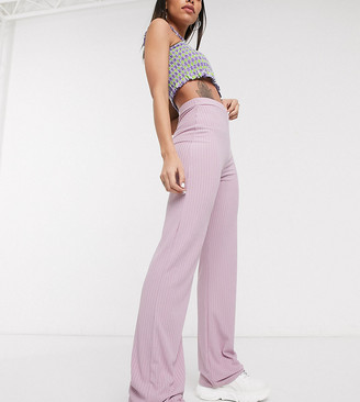 Collusion rib flares in lilac