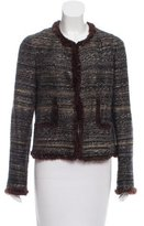 Chanel Fur-Trimmed Tweed Jacket