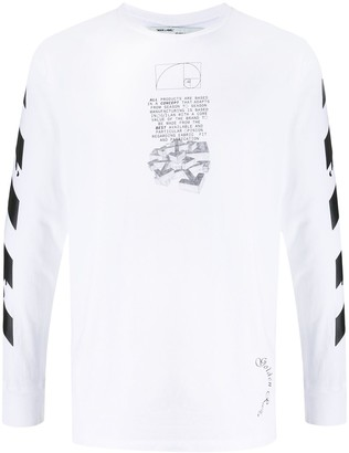 Off-White dripping arrows long-sleeved T-shirt